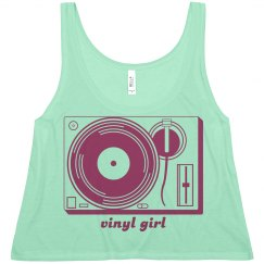 Vinyl Girl Crop
