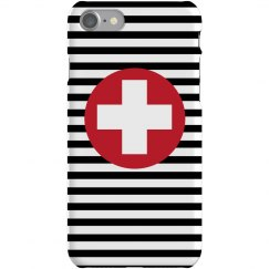 Stripe Cross iPhone Case