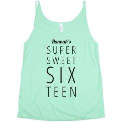 Sixteen Birthday Girl