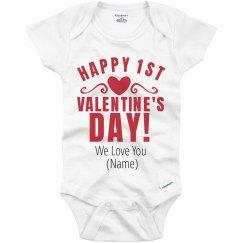 Custom Happy 1st Valentine's Day
