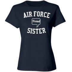 Proud air force sister