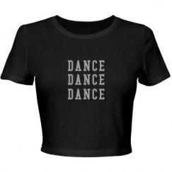 Dance Crop Top (Rhinestone)