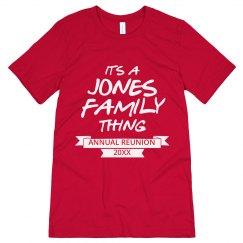 Jones family thing