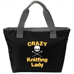 Crazy Knitting Lady