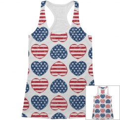 All Over Print Patriotic Hearts