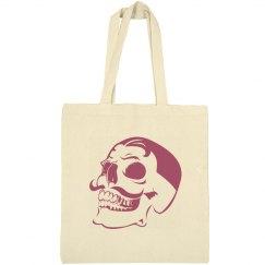 Mustache Skull Tote Bag