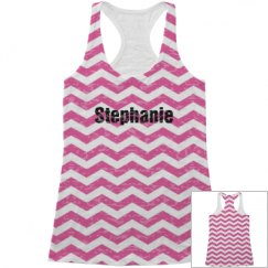 Pink Chevron Tank Top for Her