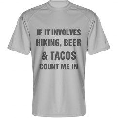 Men's Performance Hike, Beer Tacos