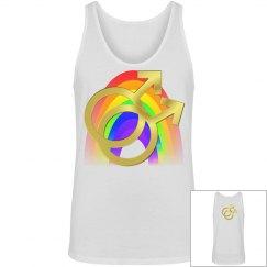 Gay Pride Rainbow Gold