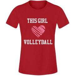 Girl loves volleyball