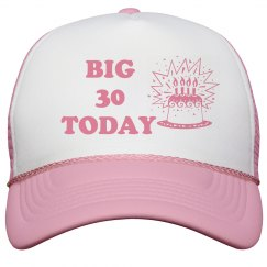 Big 30 Pink Peak Cap