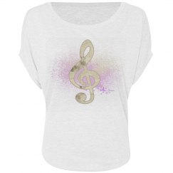 Gold Floral Treble Clef & Purple