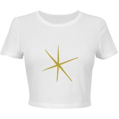 Star Crop Top Fitted