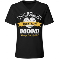 Volleyball Mom Pride With Custom Player Name