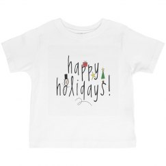 Happy Holidays Kids Tee