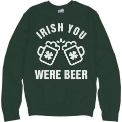 Irish You Were Beer Green Drunk