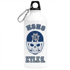 Football Skull Bottle