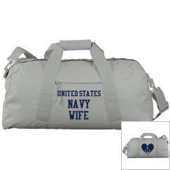 Navy Wife Gym Bag