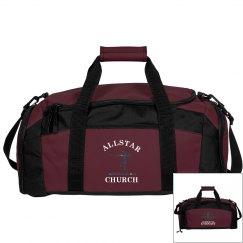 Church. Gymnastics bag