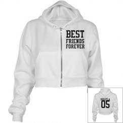 BFF Junior Fit Crop-Top Hoodie