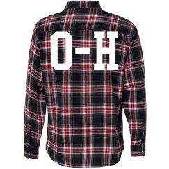 OHIO Red & Black Flannel