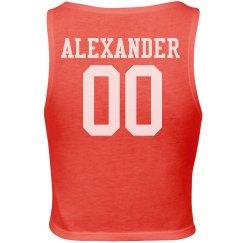 Alexander crop tank top