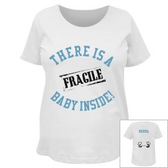 Fragile baby with hand prints