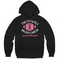October Breast Cancer Football Game Hoodie