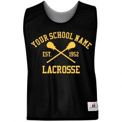 Custom Text School Lacrosse Pinnie