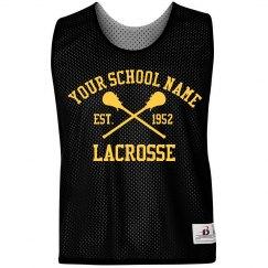 Custom Text School Lacrosse Pinnie