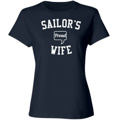 Proud sailor's wife