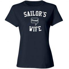 Proud sailor's wife