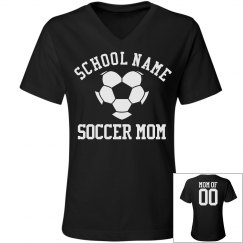 Trendy Soccer Mom Shirt With Custom Back