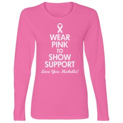 Think Pink Breast Cancer Shirt With Custom Name