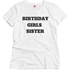 Birthday girls sister