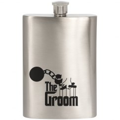 The Groom Hip Flask