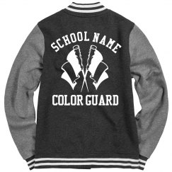 Trendy Color Guard Girl Varsity Bomber Jackets