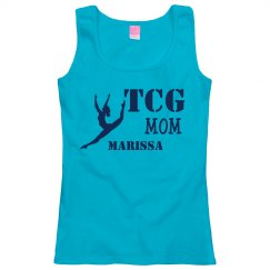 Women's Mom Tank Blue