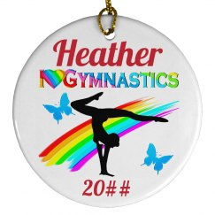 CUTE GYMNASTICS ORNAMENT
