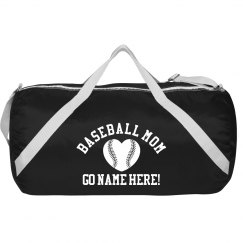 Custom Name Baseball Mom Bag