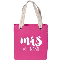 Just Married Custom Mrs. Last Name