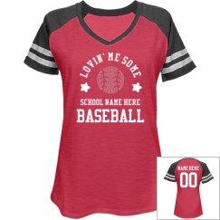 Lovin' Custom Rhinestone Baseball