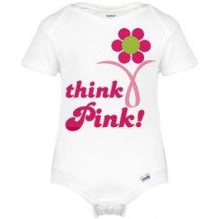 Think Pink Cancer Onesie