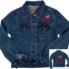 Distressed Red USA LOVE