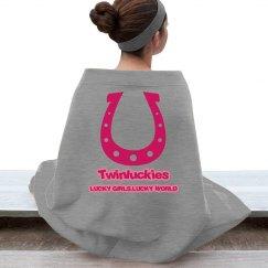 Lucky Pink Fleece Blanket