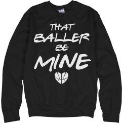 Baller B-Ball Basketball Girlfriend Sweater