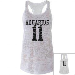 Aquarius Sporty Zodiac Tank