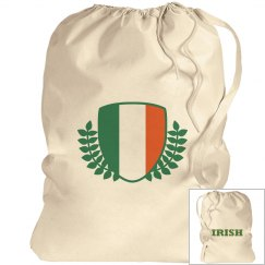 Irish Flag Drawstring Bag