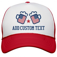 Custom Text July 4th Drinking
