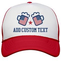 Custom Text July 4th Drinking